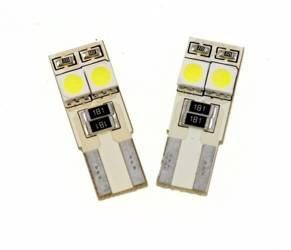 Car LED bulb W5W T10 4 SMD 5050 CAN BUS SIDED