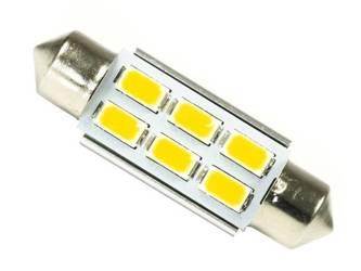 WW LED Bulb C5W Car 6 SMD 5630 CAN BUS White Heat