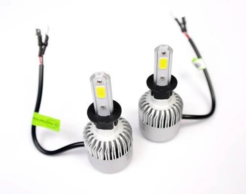 A set of LED bulbs H3 C6 Bridgelux COB ™ 8000 lm