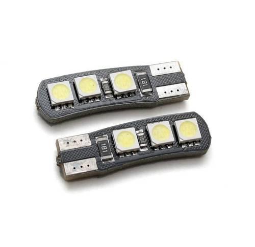 Car LED bulb W5W T10 6 SMD 5050 CAN BUS bilateral