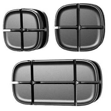 EH31-Black   Set of cable organizers - 3 pieces