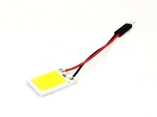 LED COB 18-chip 3x6 panel + W5W, C5W, T4W adapters