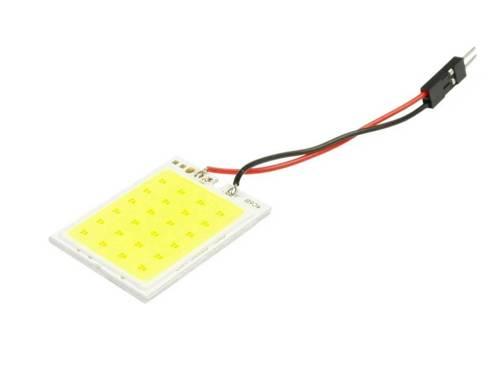 LED COB 24-chip 4x6 panel + W5W, C5W, T4W adapters
