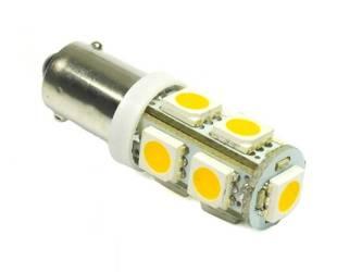 Auto LED-Birne BA9S 9 SMD 5050 Warmweiß