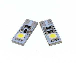Auto-LED-Lampe W5W T10 2 SMD 5050 CAN-BUS-SIDED