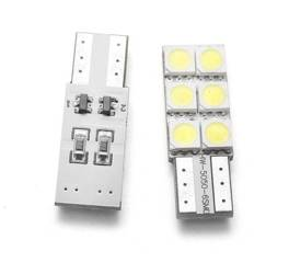 Auto-LED-Lampe W5W T10 6 SMD 5050 CAN-BUS-seitig