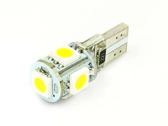 WW LED-Birnen-Auto W5W T10 5 SMD 5050 CAN BUS White Heat