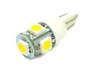 WW LED-Birnen-Auto W5W T10 5 SMD 5050 White Heat