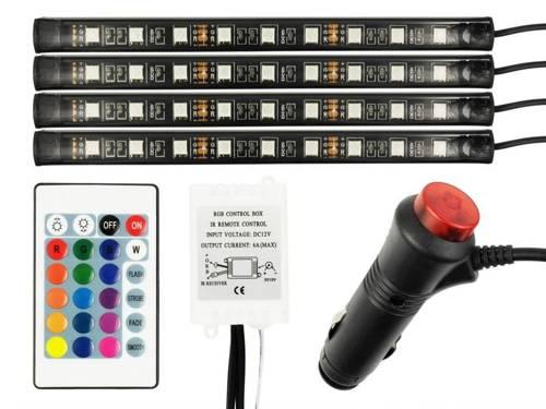 LED-RGB-Beleuchtung in das Innere (Kabine) mit einer Fernbedienung Auto-Zigarettenanzünder