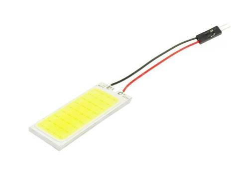 Panel COB-LED-Chip 36, 3x12 + Adapter W5W, C5W, T4W
