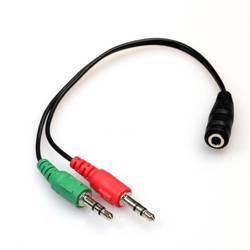 AC-2-30CM-Black | Mini JACK | Rozdzielacz sygnału audio na mikrofon i słuchawki