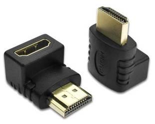 HA-90 | Przejściówka kątowa HDMI | 4K | 3D | 15 cm