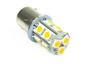 WW Żarówka samochodowa LED BA15S 13 SMD 5050 Biała ciepła