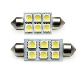 Żarówka samochodowa LED C5W 6 SMD 5050