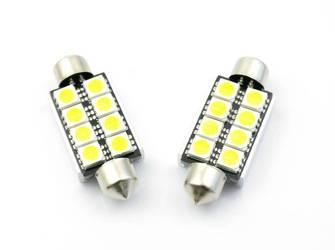 Żarówka samochodowa LED C5W 8 SMD 5050 CAN BUS