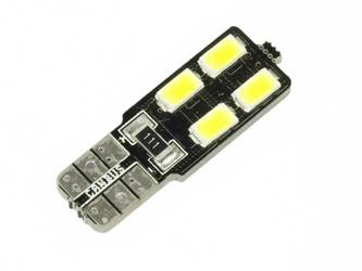 Żarówka samochodowa LED W5W T10 4 SMD 5630 CAN BUS jednostronna