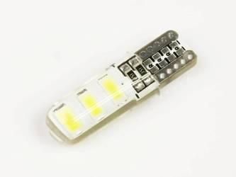 Żarówka samochodowa LED W5W T10 6 SMD 5630 CAN BUS Silikon