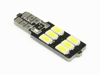 Żarówka samochodowa LED W5W T10 6 SMD 5630 CAN BUS jednostronna