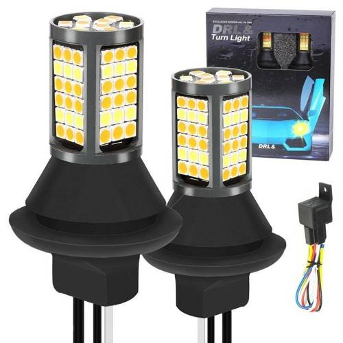 2w1 | PY21W 81 SMD 3030 | Światła LED do jazdy dziennej | AUTOMAT