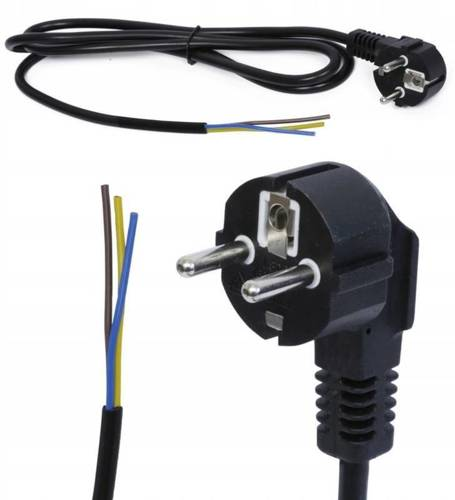 3M Kabel zasilający 230V z wtyczką | PWC-1.5M-BLACK