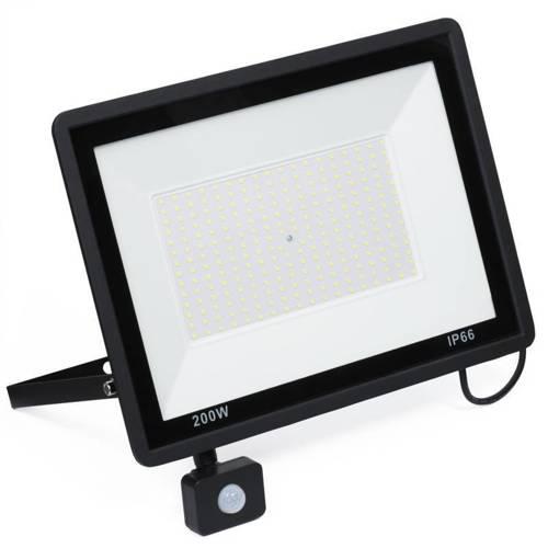BLS-200W | Naświetlacz LED 200W z czujnikiem ruchu i zmierzchu | 19000 lm | 220V