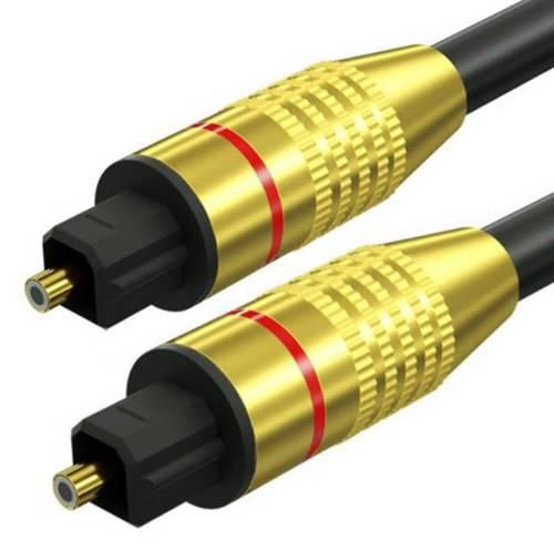 TS07-3-3M-Black | Przewód optyczny Toslink | GOLD - pozłacane złącza | HQ