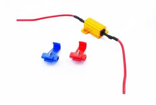 Uniwersalny filtr LED CAN BUS 25W 25Ω z konektorami