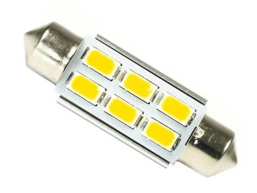 WW Żarówka samochodowa LED C5W 6 SMD 5630 CAN BUS Biała ciepła