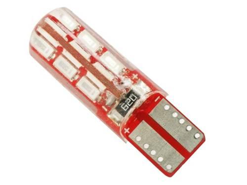 Żarówka samochodowa LED W5W T10 24 SMD 3014 CAN BUS Silikon