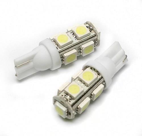 Żarówka samochodowa LED W5W T10 9 SMD 5050