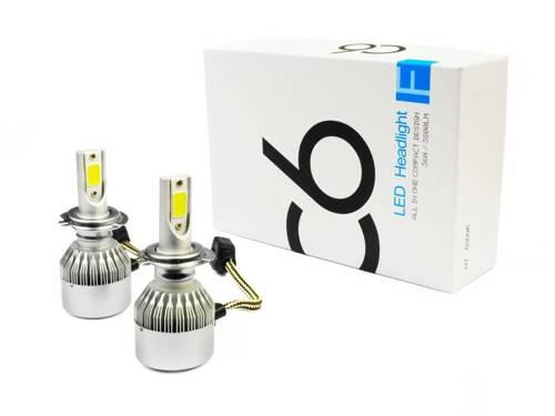 Zestaw żarówek LED H7 C6 COB BridgeLUX™ 7600 lm