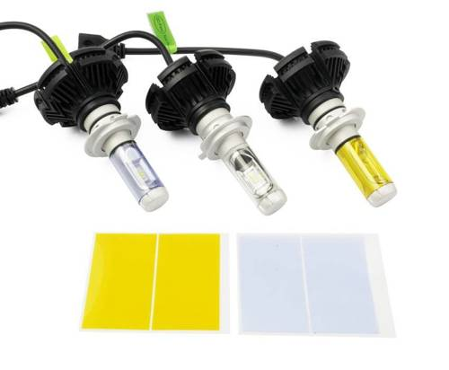 Zestaw żarówek LED H7 X3 DIODA TYP ZES 50W 12000 lm