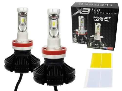 Zestaw żarówek LED H9 H11 X3 DIODA TYP ZES 50W 12000 lm